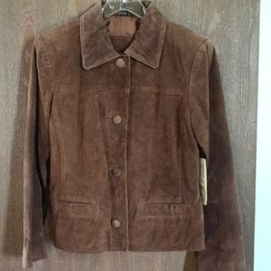Tan suede jacket brand new never worn